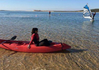 Kayaking and Windsurf at Albufeira Lagoon